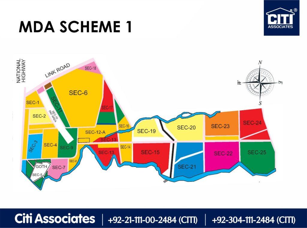 New Malir Housing Scheme 1 Karachi – Master Plan Map : MDA Karachi