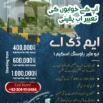 Buy Plots in MDA Scheme 1 Karachi