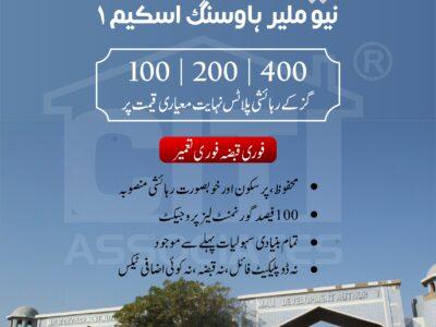 100 | 200 | 400 Residential Plots | New Malir Housing Scheme 1
